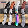"Image of 8"" BUCKSHOT SHAVER STYLE CLEAVER Folding Pocket Knife"