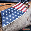 "Image of 3PC COMBO FIXED US FLAG CLEAVER + BLACK Mini CLEAVER + ""We The People"" Knife"