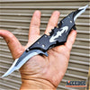 "Image of 11"" BATMAN DUAL BLADE POCKET KNIFE Tactical Assisted Open DARK NIGHT RISES Hunting Camping EDC Razor Blade"