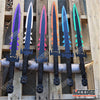 "Image of 28.5"" DARK DEMON SWORD Technicolor KATANA DUAL BLADE Japanese Throwing Knife"