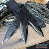 "Image of 3PC 6.5"" Dragon Etched Throwing Knife Set with Sheath Ninja Kunai Combat Sharp Throwers Outdoor Throwing 3 TYPES TO CHOOSE"