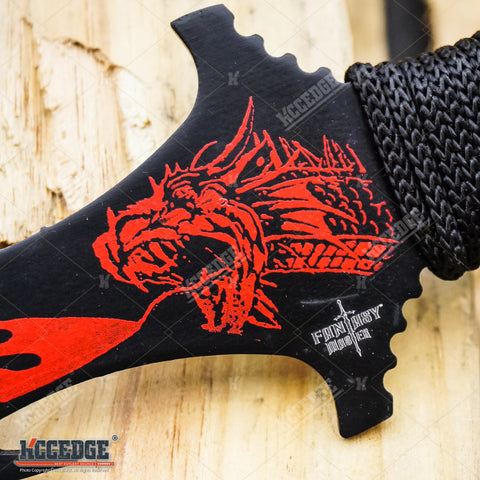 "26"" FANTASY Fire Breathing Dragon COLLECTIBLE Double Edge SHORT SWORD"