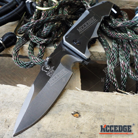 "HEAVY DUTY 9.5"" HIGH END 7CR17MoV SURVIVAL CAMPING HUNTING Folding Pocket KNIFE"