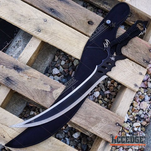 "24"" Fantasy TACTICAL NINJA Short Sword Scimitar SABER Blade with Sheath"
