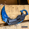 "Image of Spring Assisted 7"" KARAMBIT STYLE Pocket Knife Aluminum Handle Folding Razor"