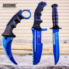 Image of 3PC COMBO CSGO Tactical Fixed Blade Knife Set - Hawkbill, Huntsman, Combat Knife