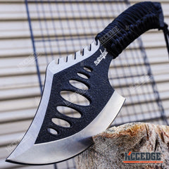 "10.5"" Survival Hunting Axe Hatchet Camping Gear Survival Kit Cord Wrapped Handle"