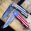 "Image of 2PC USA PATRIOTIC COMBO 9"" US FLAG We The People KNIFE + Don't Tread on Me KNIFE"