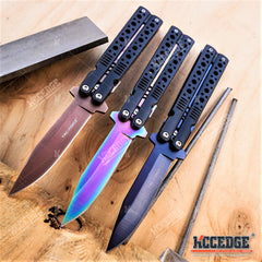 "8.5"" TAC FORCE BUTTERFLY KNIFE STYLE Assisted Open Folding Pocket Knife"