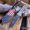 Image of 2PC PATRIOTIC SET US Flag CLEAVER + We The People Don't Tread on Me POCKET KNIFE