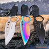 "Image of 8.5"" TACTICAL COMBAT FIXED BLADE NECK KNIFE w/ SHEATH"