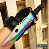 Image of 5PC RAINBOW KNIVES CSGO SET M9 BAYONET + GUT HOOK + BOWIE + KARAMBIT + HUNTSMAN