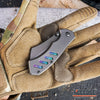 "Image of 2PC COMBO 6.5"" BUCKSHOT MINI POCKET CLEAVER + CSGO GALAXY KARAMBIT"