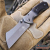 "Image of Little Cleaver Combo 2PC Mini 6.5"" Pocket Knife + FIXED US Flag 8"" CLEAVER"