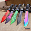 Image of 5PC CSGO SET JUNGLE FIXED Bowie KNIFE MILITARY TACTICAL Saw Back Razor Blade