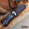 Image of 2PC Black Combo FIXED BLADE Cleaver + Assisted Open Folding CLEAVER