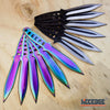 Image of 12PC Ninja Hunting KNIVES Multicolor Combat Naruto Kunai Throwing Knife Set Case