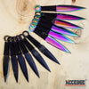 Image of 12PC Ninja Hunting KNIVES Full Tang Naruto Kunai Combat Throwing Knife Set Case