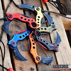 "7.75"" KARAMBIT CSGO POCKET TACTICAL FLIP KNIFE Stealth Hawkclaw Counter Strike"