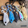 "Image of 6.75"" FIXED BLADE CAMPING HUNTING RAZOR SHARP KNIVES W/ MULTIPURPOSE SOLO S HOOK"