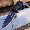 Image of Tactical PISTOL FOLDER POCKET KNIFE Survival Army Camping & Hiking Razor Blade