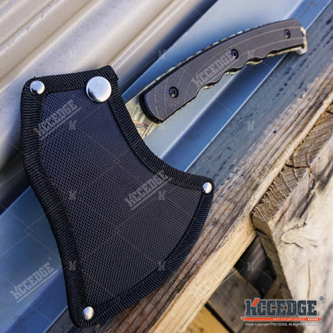 "10.5"" Military Survival Hunting Axe Hatchet Camping Gear Survival Kit Combat"