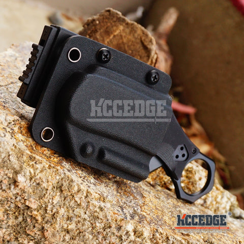 Tactical Quick Deploy Folding Karambit w/ Kydex Sheath Knife Opens As You Pull Knife From Sheath