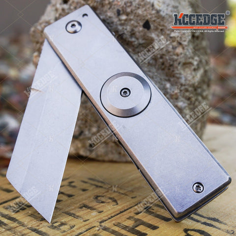 "7"" ASSISTED OPEN CLEAVER POCKET KNIFE W/ FIDGET SPINNER FEATURE OUTDOOR RAZOR"