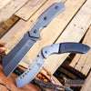Image of 2PC Cleaver Combo FIXED BLADE Cleaver + SHAVER STYLE Pocket Knife Cleaver
