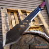 "Image of 2PC COMBO SET 25.5"" ZOMBIE KILLING Ninja Machete + 20"" Survival Hunting Machete"