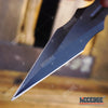 "Image of 3PC 7.5"" Technicolor Kunai Throwing Knife Set with Sheath Survival Combat Throwers"