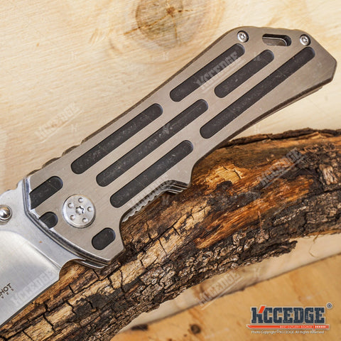 "8.5"" BUCKSHOT TANTO Blade Assisted Open Folding Pocket  Knife"