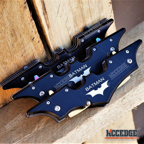 "11"" BATMAN DUAL BLADE Tactical POCKET KNIFE DARK NIGHT RISES"