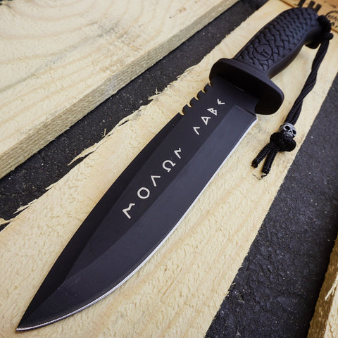 Greek Warrior MOLON LABE KNIFE COLLECTIONS FIXED KNIFE JUNGLE HUNTING CAMP GEAR