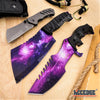 Image of 3PC COMBO SET CSGO GALAXY Huntsman + Fixed CLEAVER + Little Cleaver POCKET KNIFE