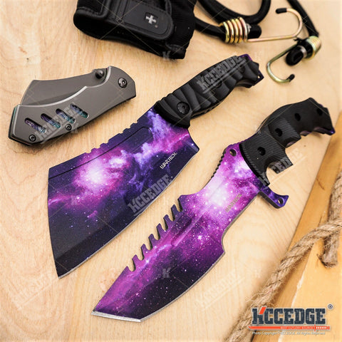 3PC COMBO SET CSGO GALAXY Huntsman + Fixed CLEAVER + Little Cleaver POCKET KNIFE