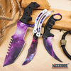 Image of 3PC CSGO GALAXY COMBO KARAMBIT + Practice Butterfly Balisong + TACTICAL HUNTSMAN
