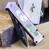 "Image of 8"" JOKER ""Why So Serious?"" BATMAN Dark Knight COLLECTIBLE Pocket Knife"