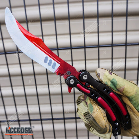 COUNTER STRIKE CSGO Practice Balisong Butterfly Knife Trainer Non Sharp Version
