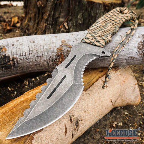 "12"" SURVIVOR FIXED BLADE HUNTING GEAR KNIFE"