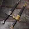 "Image of 15.5"" Medieval Excalibur Dagger with Dragon Engraved Pommel Design Handle"