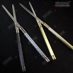 25 Inch 2 in 1 Double Bladed Ninja Sword Staff Spear Short Sword