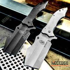 "9.75"" Pocket Knife Massive 4.25"" Safety Blade Tactical Knife w/ Full Metal Construction"