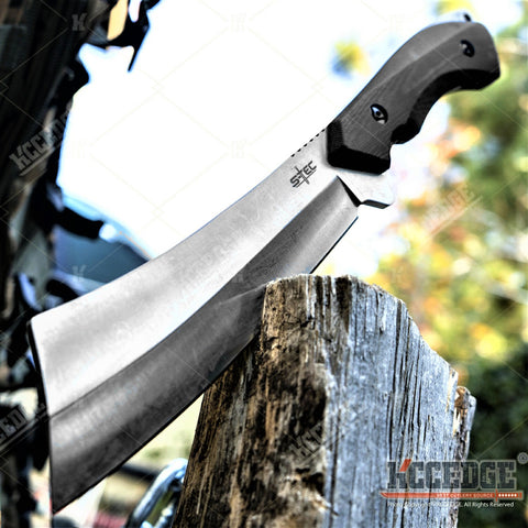 "12.5"" Full Tang Tactical Machete G10 Handle Thick 440 Stainless Steel Blade Survival Gear Tactical Gear Camping Gear"