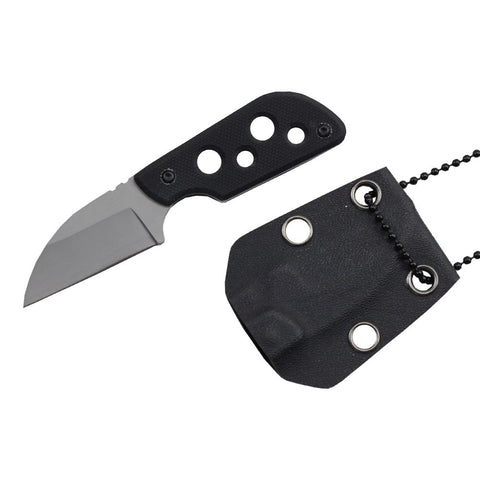 "4 1/8"" Full Tang Tactical Fixed Blade Knife w/ Kydex Sheath And G10 Handle Scales"