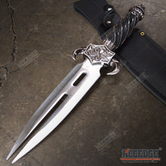 "12.5"" DRAGON FANTASY CLAW Collectors Hunting Knife Twin FIXED BLADE Dagger Sword"