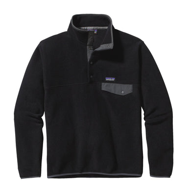 Patagonia LW Synchilla Snap-T Fleece Pullover - Black w/Forge Grey