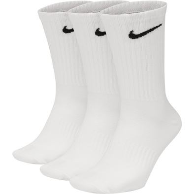 Nike Everyday LW Crew Socks 3 Pack - White/Black