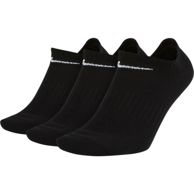 Nike Everyday LW No-Show Socks 3 Pack - Black/White