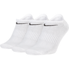 Nike Everyday LW No-Show Socks 3 Pack - White/Black